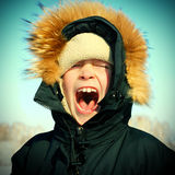 Kid in Winter Royalty Free Stock Photo