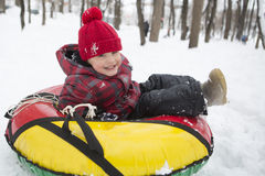 The kid on winter royalty free stock images