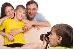 Kid With Camera Royalty Free Stock Photos