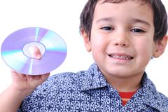 Kid With CD Royalty Free Stock Photo