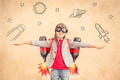 Free Kid With Jet Pack At Home Royalty Free Stock Photos - 101487958