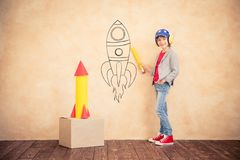 Free Kid With Jet Pack At Home Stock Photography - 102004572