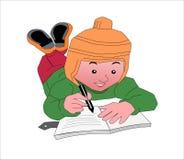 A kid writing Royalty Free Stock Image