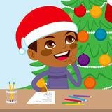 Kid Writing Santa Letter Stock Photography