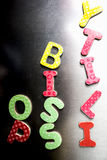 Kid& x27 ; alphabets magnétisés par s Image stock