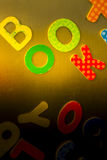 Kid's Magnetized Alphabets Royalty Free Stock Images