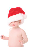 kid3圣诞老人 免版税库存照片