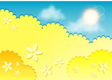 Kiddie background for text. Royalty Free Stock Photo