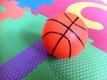 Kiddie ball. Photo of a ball on puzzle stock images