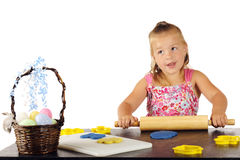 Kiddie Dough Easter Cookies Royalty Free Stock Photo