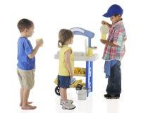 Kiddie Lemonade Stand Stock Image