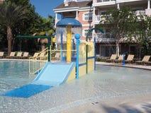 Kiddie pool with slide Stock Photos