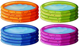 Kiddie pools Stock Photography