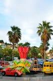 Kiddie Ride Carousel merry go round in Le Lavandou cote azur, France. LE LAVANDOU, FRANCE - SEPTEMBER 20, 2013: Kiddie Ride Carousel merry go round, cote azur Stock Images
