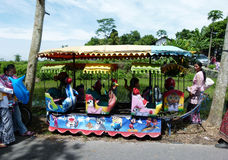 Kiddie ride. The kids were enjoying the kiddie ride at a village in Klaten, Central Java, Indonesia Stock Images