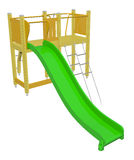 Kiddie slide, 3D illustration Royalty Free Stock Image
