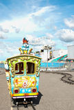 Kiddie train ride. Train ride for children at a fair Stock Images