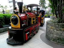 Kiddie Train ride in Robinson's Place Magnolia Residences Mall Stock Photos