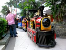 Kiddie Train ride in Robinson's Place Magnolia Residences Mall. Photo of a Kiddie Train ride in Robinson's Place Magnolia Residences Mall in Quezon City Stock Photo