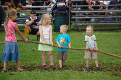 Kiddie Tug O' War stock image