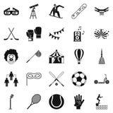 Kidding icons set, simple style. Kidding icons set. Simple set of 25 kidding vector icons for web isolated on white background Royalty Free Stock Photography