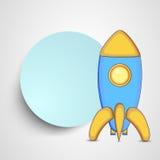 Kiddish有空白的框架的样式火箭的消息 皇族释放例证