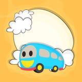 Kiddish Bus for Back to School concept. stock illustration