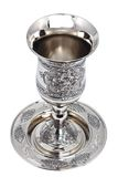 Kiddish cup with wine Stock Photos