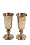 Kiddish cup with wine Royalty Free Stock Photos
