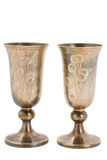 Kiddish cup with wine Stock Images