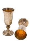 Kiddish cup with wine Stock Photo