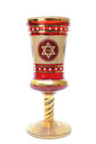 Kiddush Cup. A Kiddush cup with a star of david, used in festive Jewish Holidays Royalty Free Stock Images