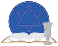 Kiddush Cup with Prayer Book Stock Image
