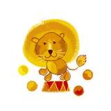 Kiddy circus yellow lion Stock Photos