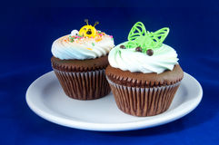 Kiddy Cupcake. Fun cupcakes with cream meant for little kids Royalty Free Stock Images