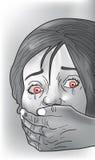 Kidnap victim, illustration Stock Images