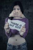 Kidnappad tonårs- flicka för ateist Arkivbilder