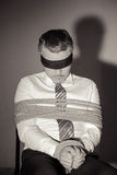 Kidnapped businessman. Stock Photography