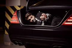 Kidnapped businessman. Stock Images