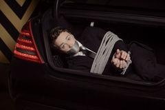 Kidnapped businessman. Royalty Free Stock Image