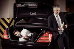Kidnapped man. Stock Photography
