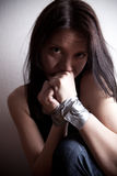 Kidnapped young woman Stock Photos