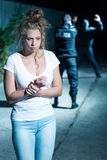 Kidnapping is a horror stock photography