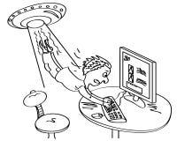 kidnappningbloggeren beskriver ufo Arkivbild