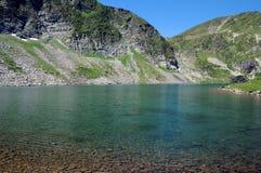 Kidney湖和Rila山 库存照片