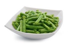 Kidney bean. Green kidney bean in the white bowl Stock Photography