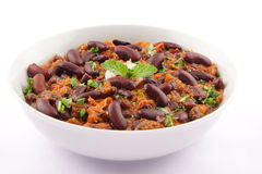 Kidney bean curry. Indian cuisine Rajma or kidney bean curry dish with spicy gravy Stock Images