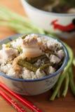 Kidney bean steam rice. Chinese kidney bean steam rice Stock Photography
