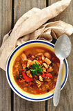Kidney Bean and Walnut Soup Royalty Free Stock Photo