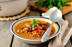 Kidney Bean and Walnut Soup Royalty Free Stock Image